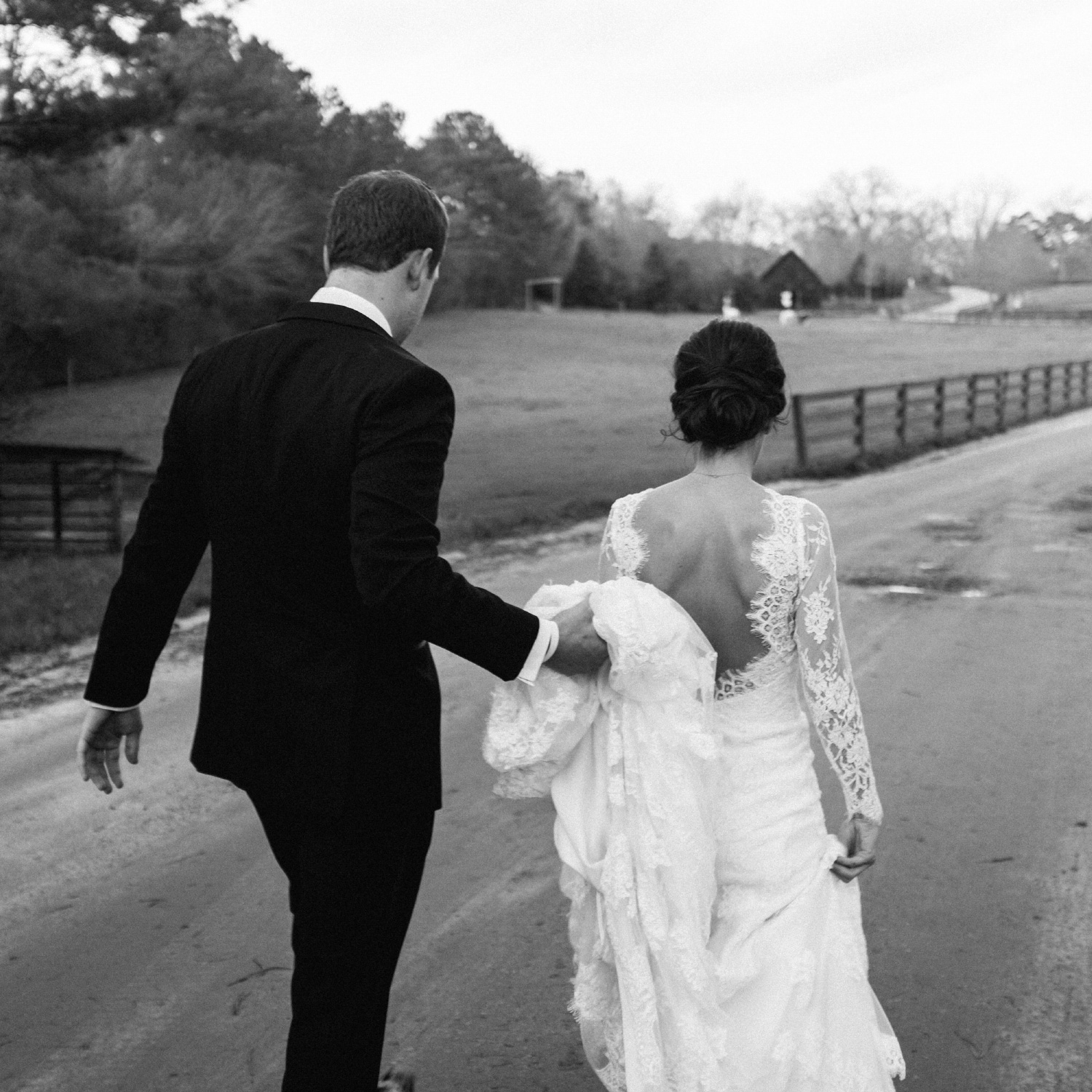 Bride and Groom walking together fuji x100t camera review