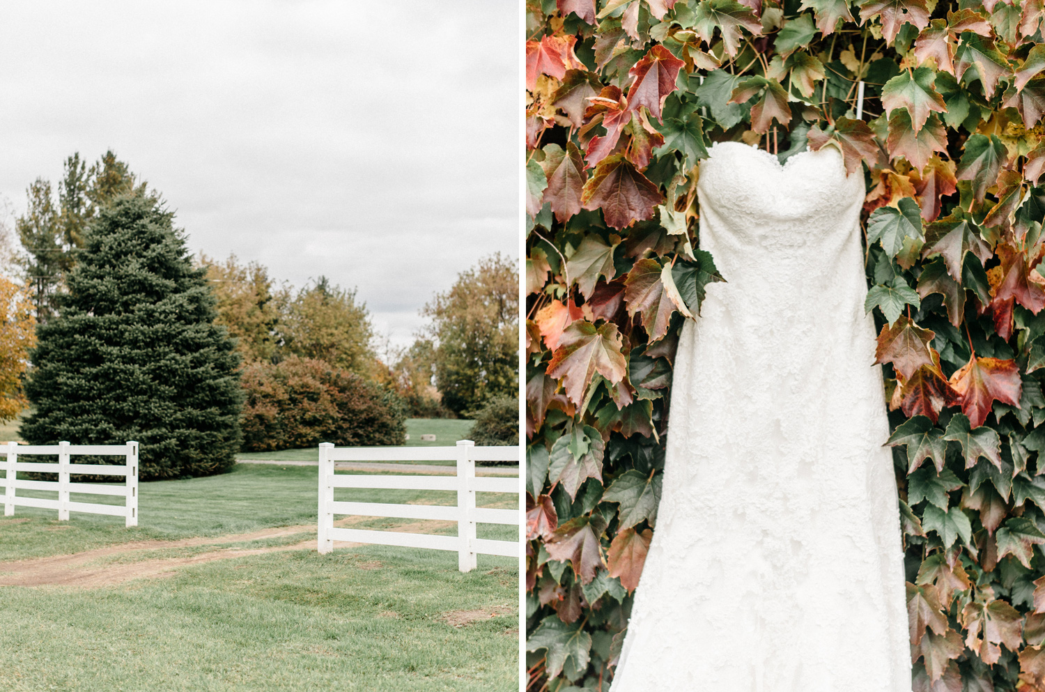 Birch Hill Farm Wedding in the Fall by Geneoh Photography