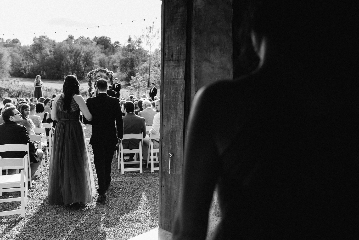 Black and White ceremony image captured by Geneoh photography