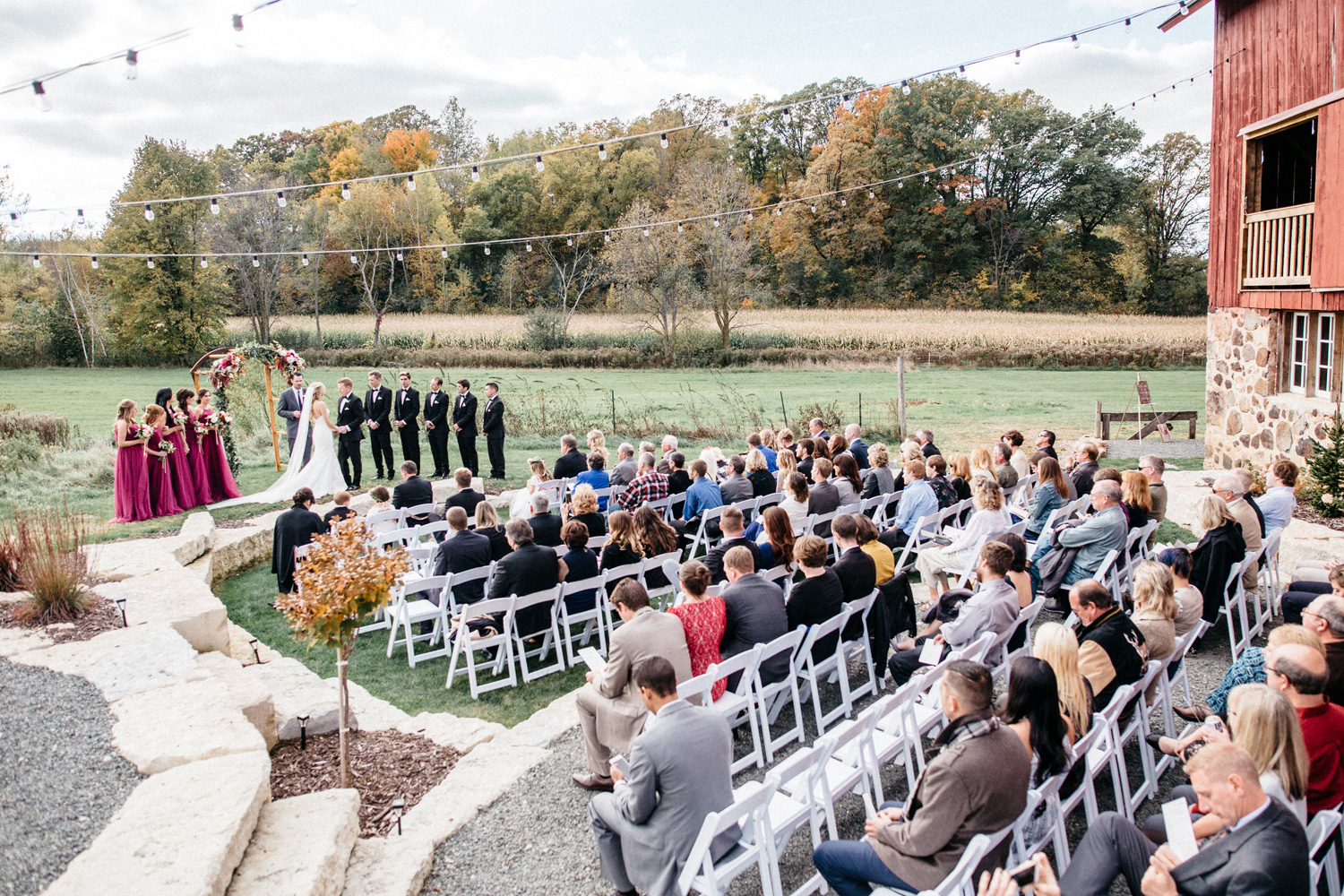 Fall Ceremony at Birch Hill Barn