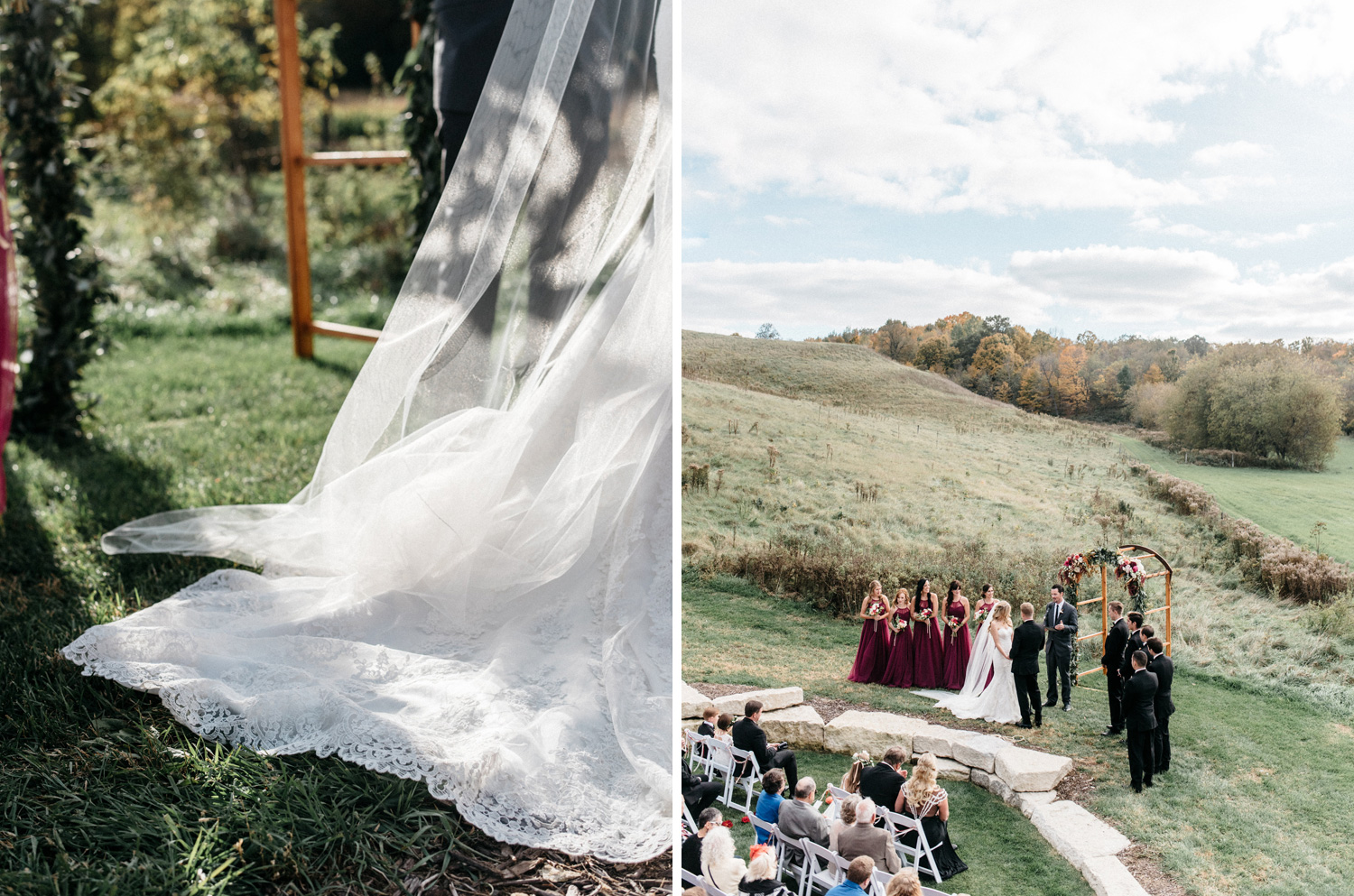 Outdoor Fall Ceremony by Geneoh Photography