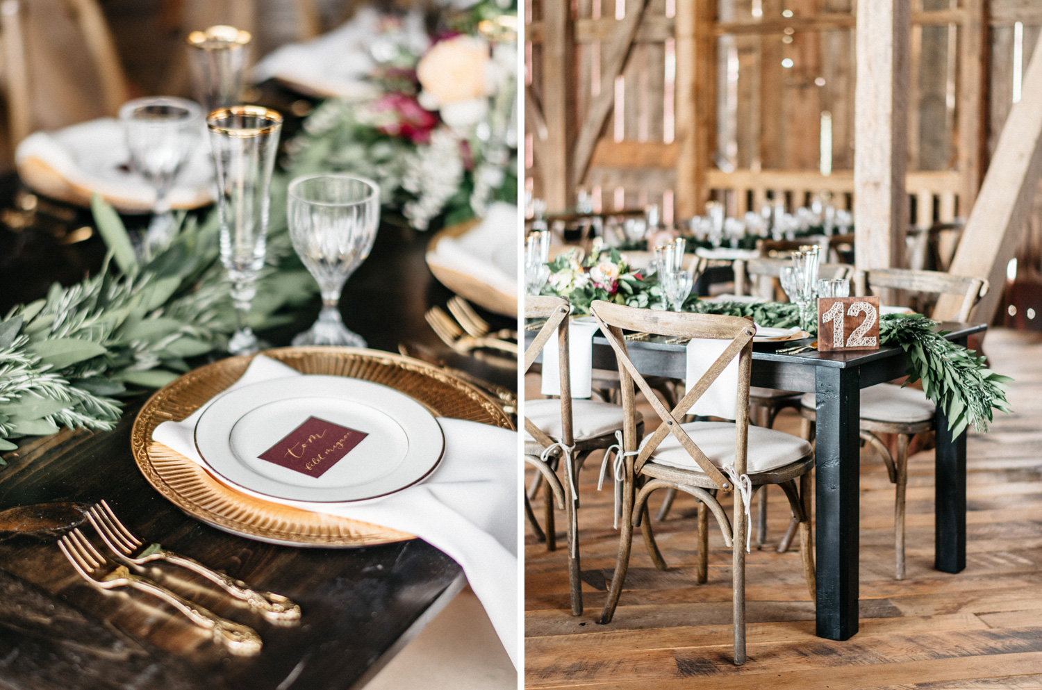 Gorgeous fall wedding details at Birch Hill Barn