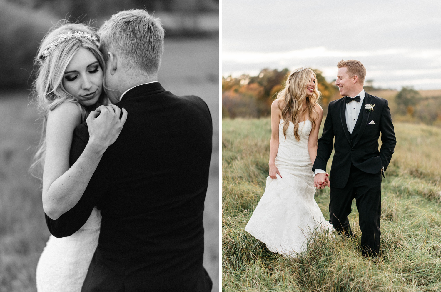 Bride and Groom Portraits at Birch Hill Barn by Geneoh Photography