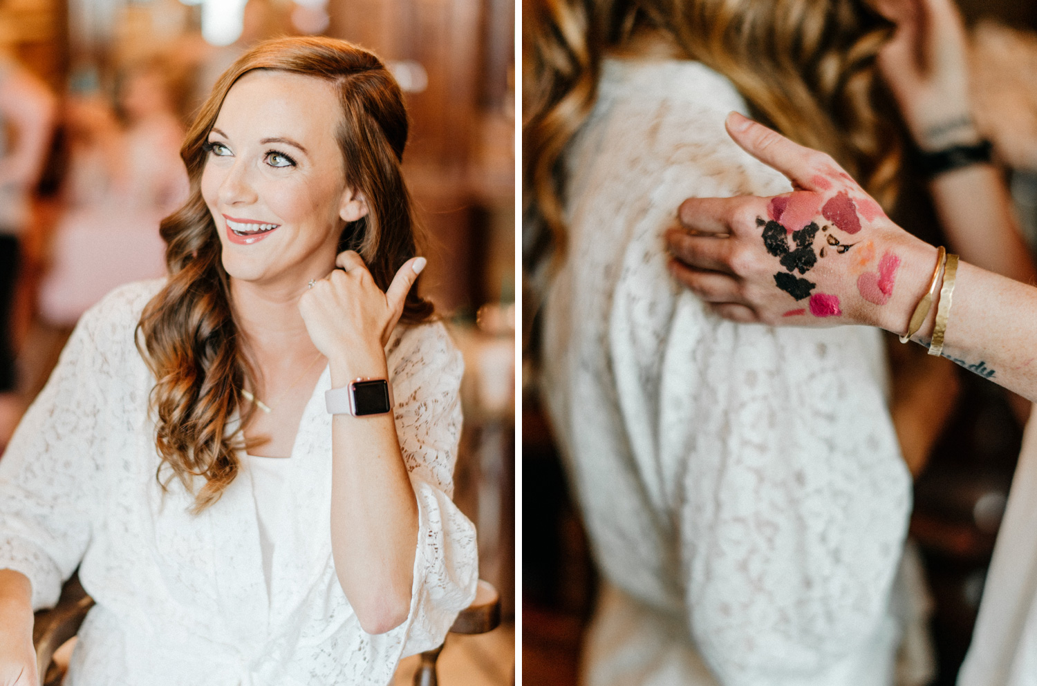 Bride getting ready at Southwind Hills by geneoh photography
