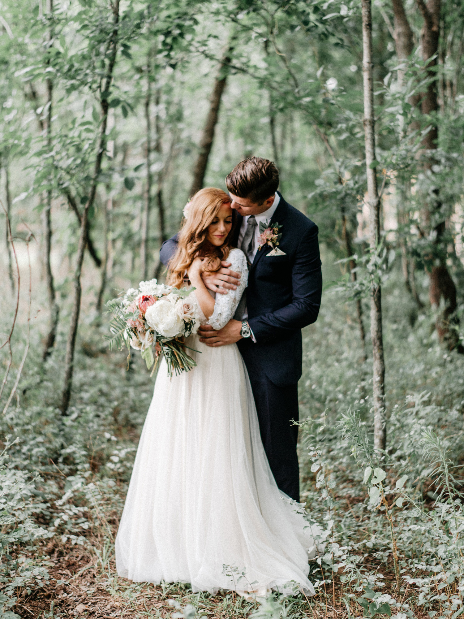 Bride and Groom Portrait at Southwind Hills by geneoh photograph