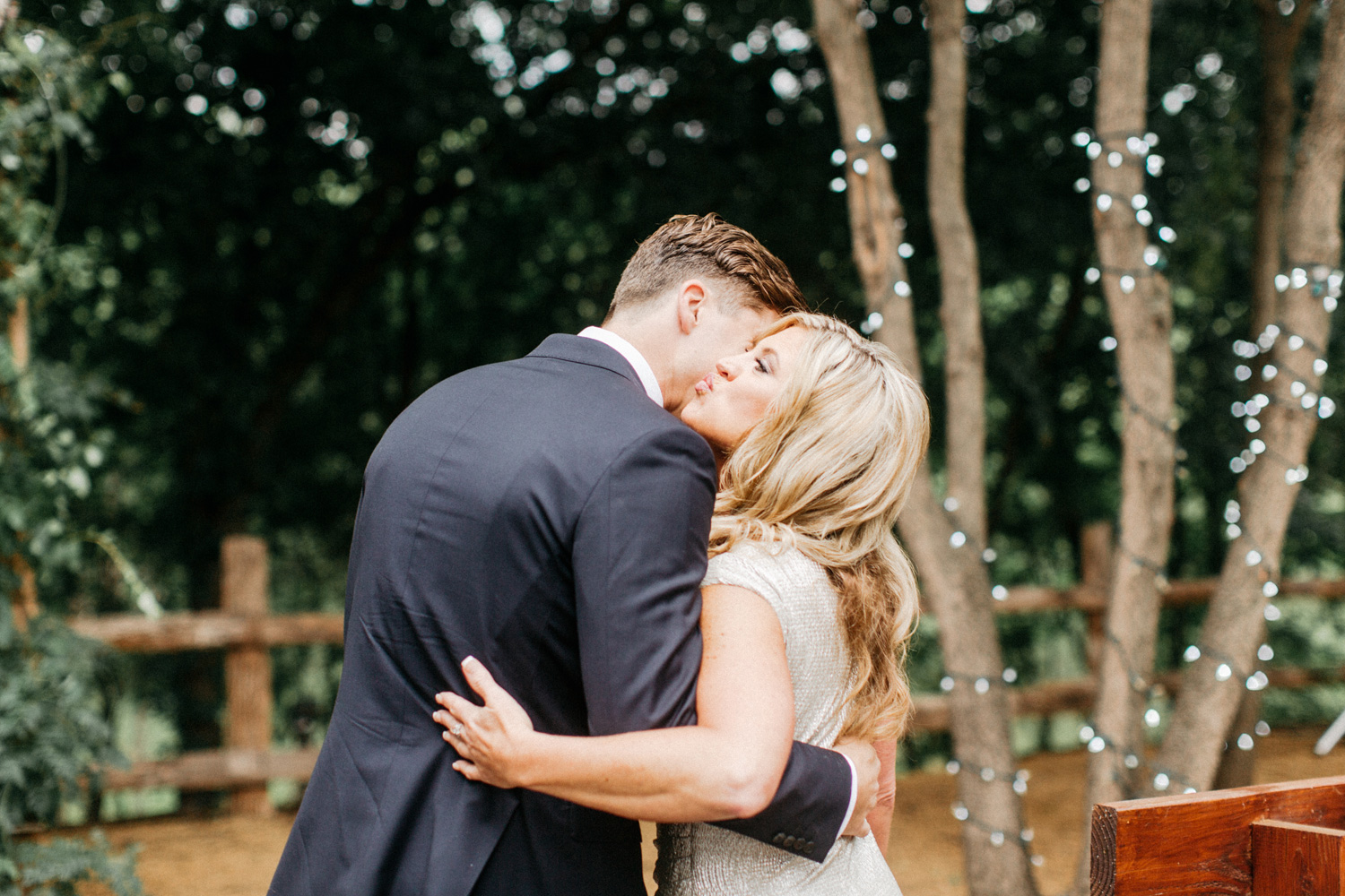Groom and MOther hug during Cereomony