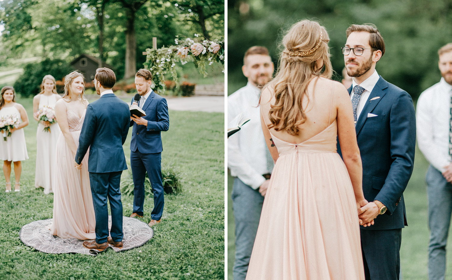 Outdoor ceremony at the Des Moines Art Center by geneoh photography