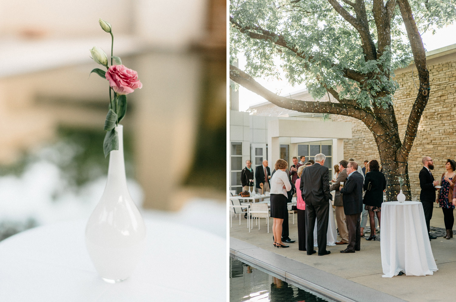 Reception at Des moines Art Center photography by geneoh photography