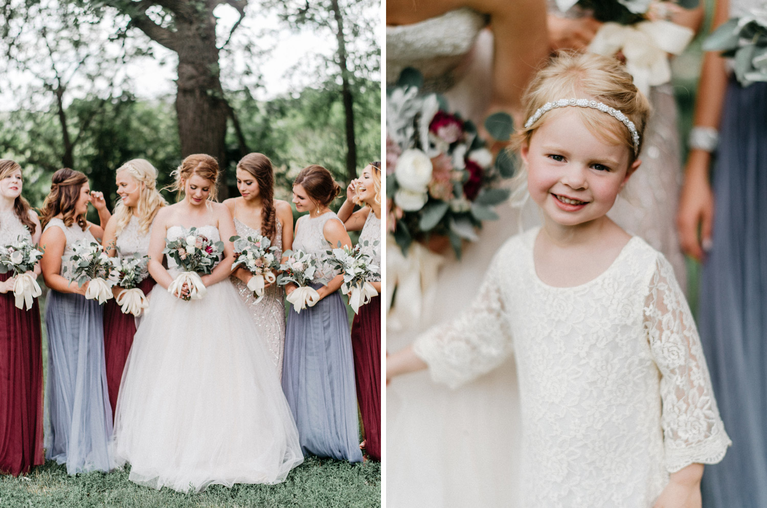 portrait of bridesmaids and flower girl by geneoh photography