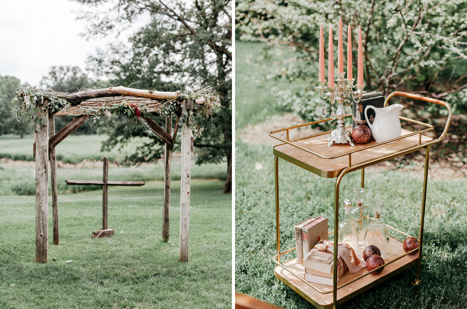 details of wedding decor from wedding at rustic oaks by geneoh photography