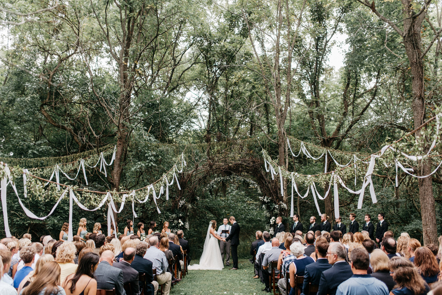 Backyard Wedding Ceremony by geneoh photography