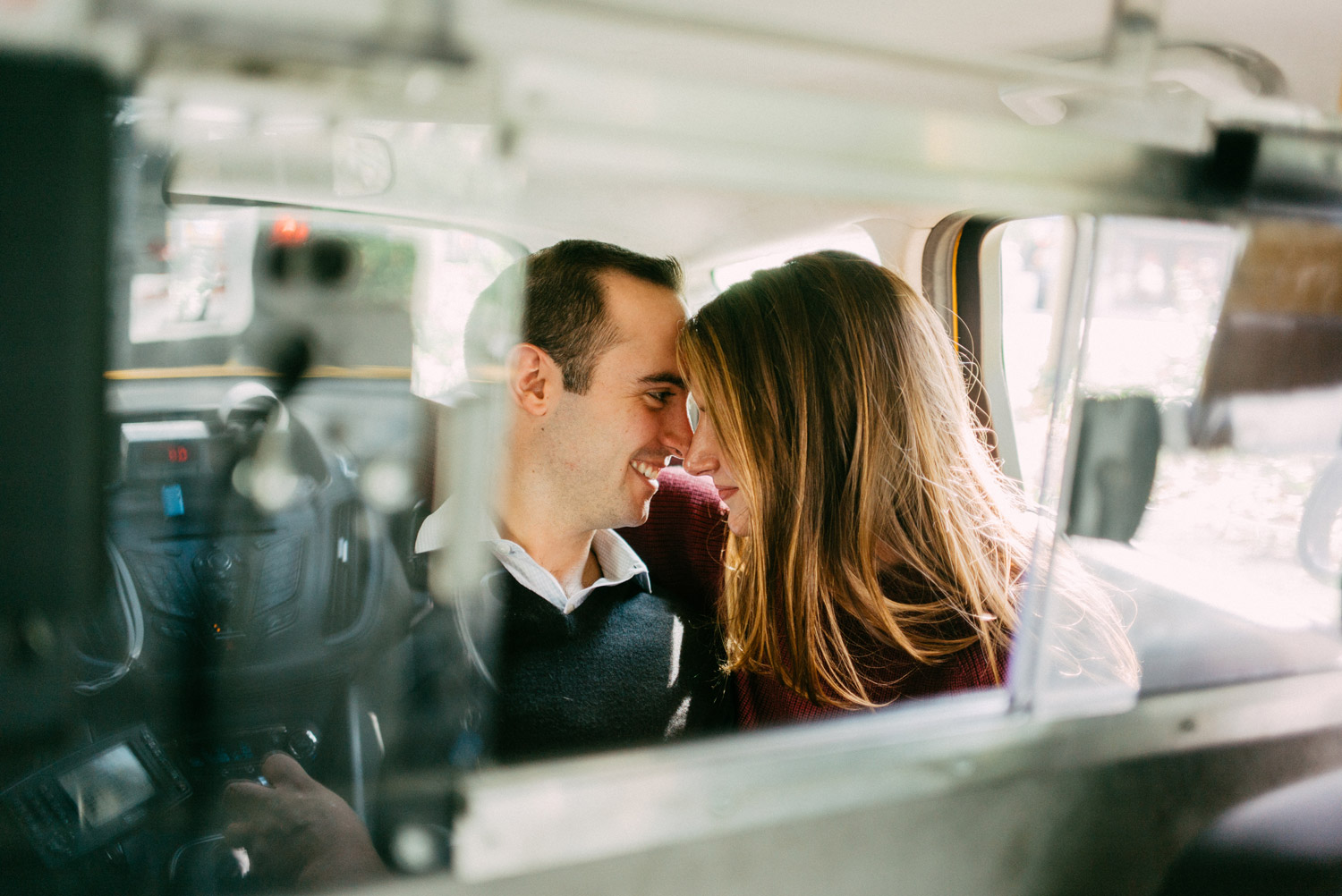 New York Taxi engagement photography by geneoh photography