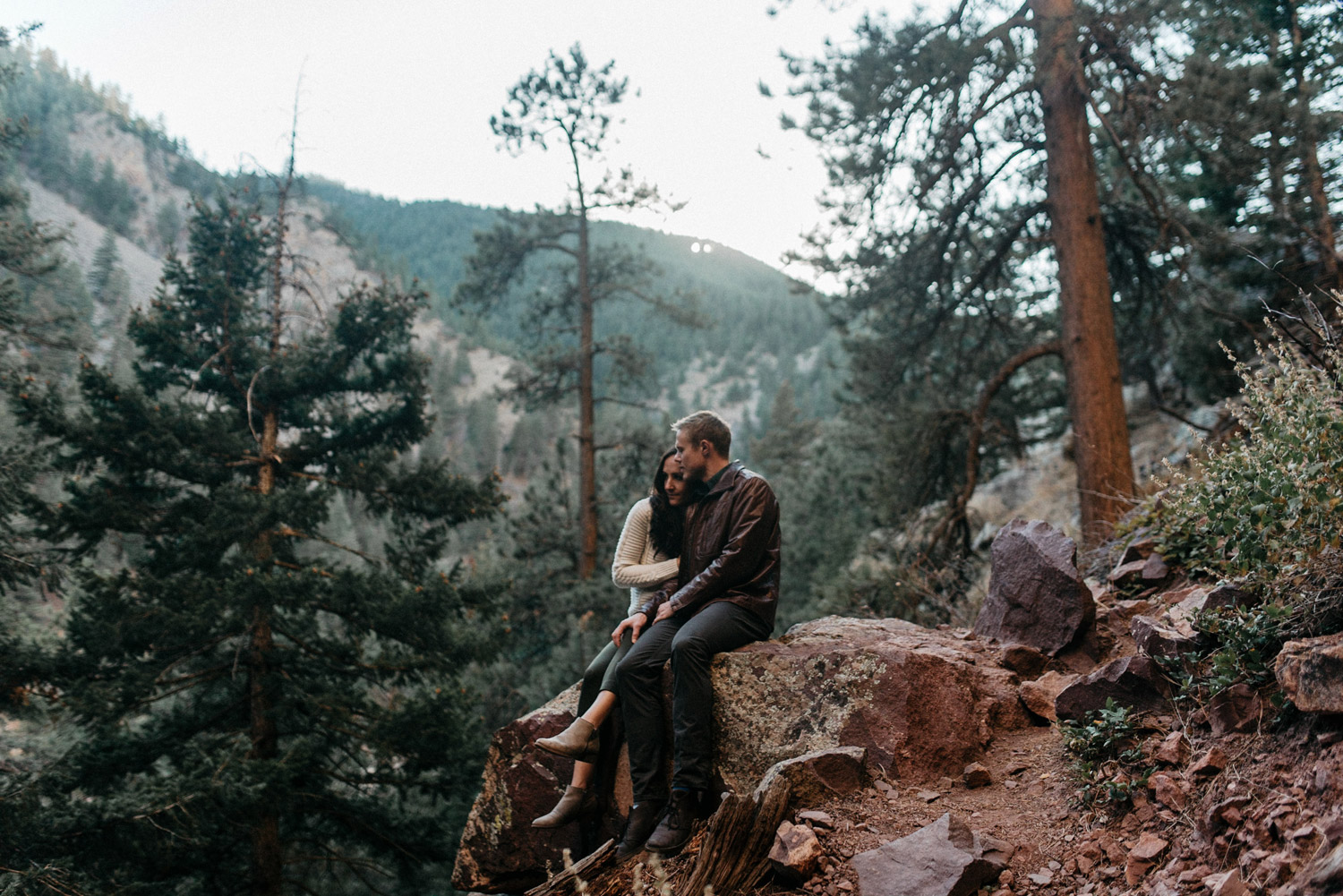 Colorado Mountain engagements by geneoh photography