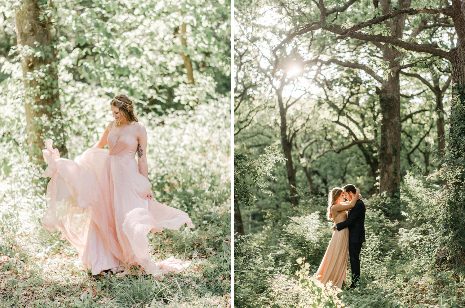 Enchanted Forest Wedding Portraits by geneoh photography