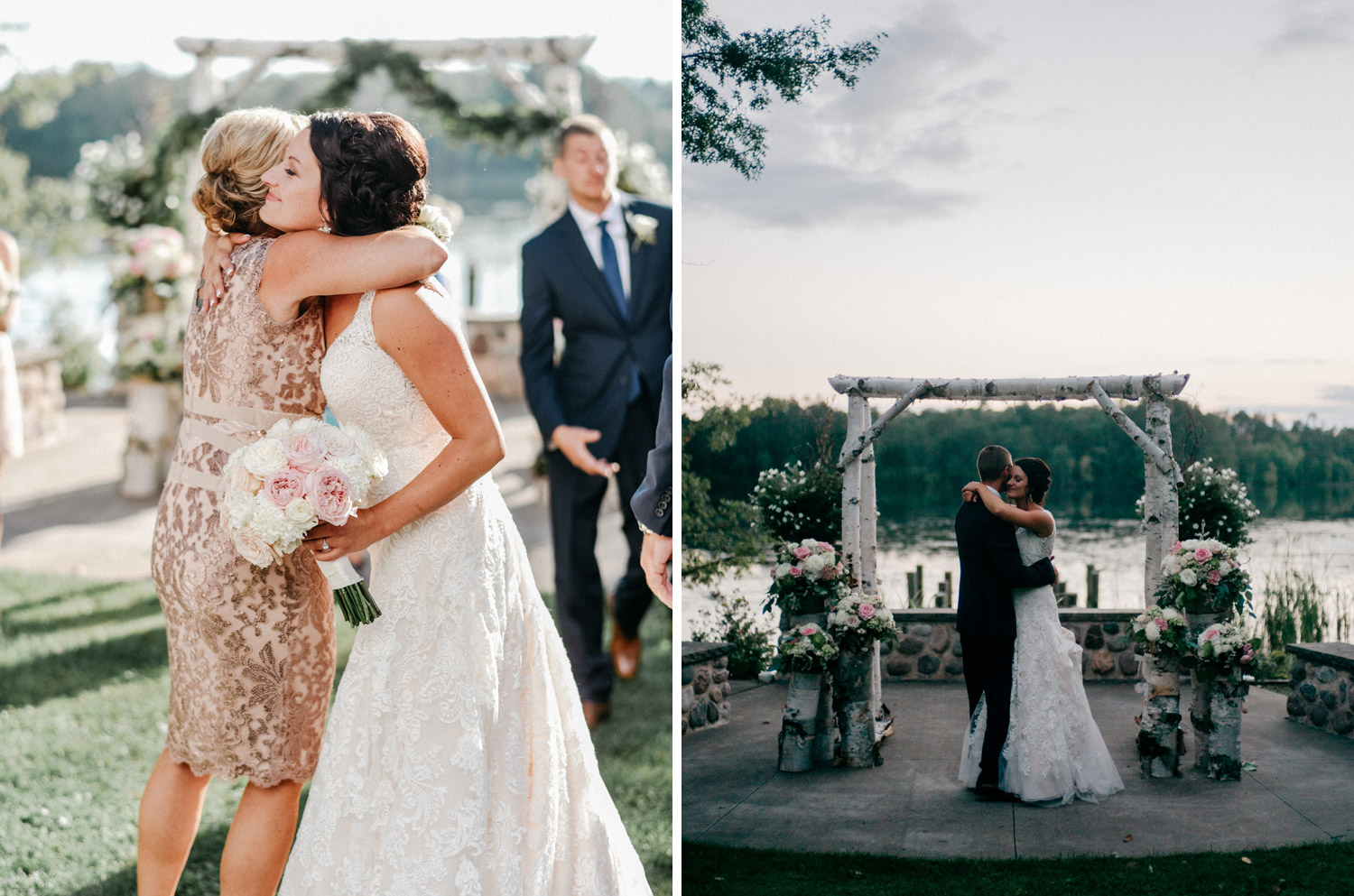 Outdoor first dance between bride and groom by geneoh photography