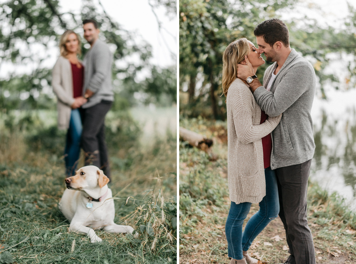 Minnesota Fall Engagement session by geneoh photography