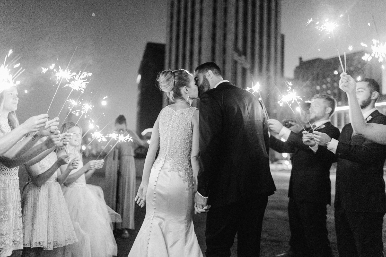Sparkler send off by geneoh photography