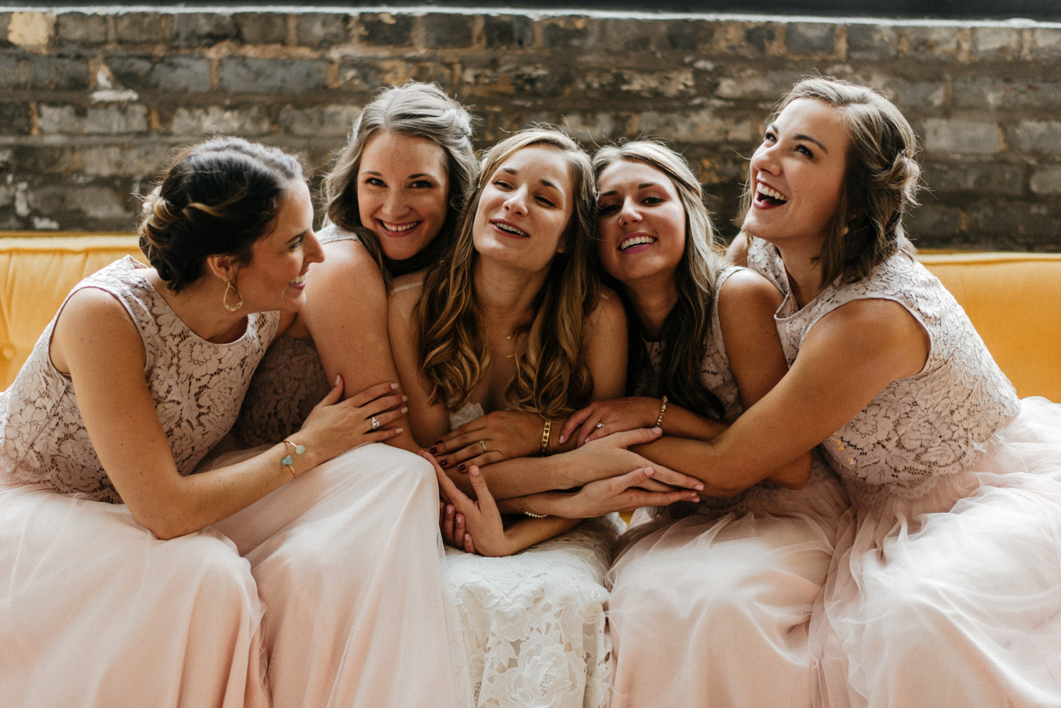 Portrait of Bride with her bridesmaids by geneoh photography