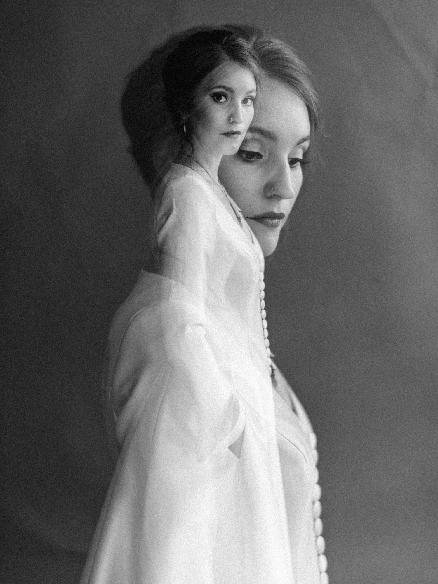 Double Exposure Portrait of Bride by geneoh photography