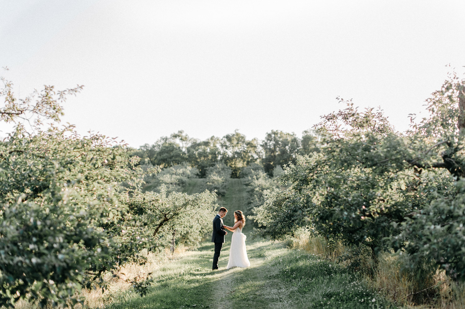 Bride and Groom Portraits at Minnetonka Orchards by Geneoh Photography