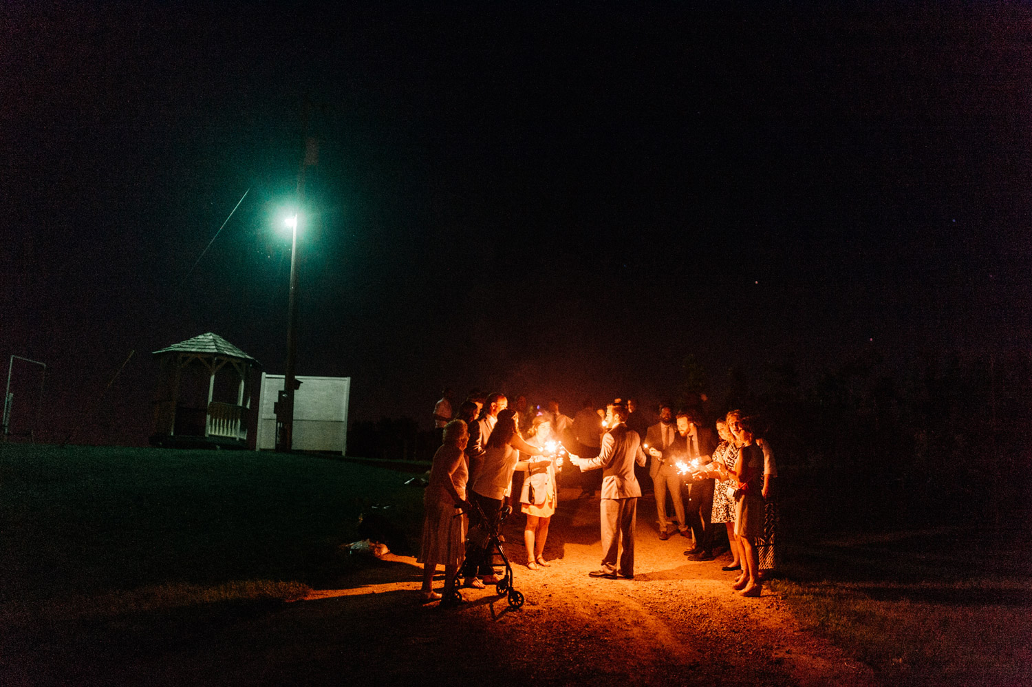 Sparkler send off at minnetonka orchards by geneoh photography