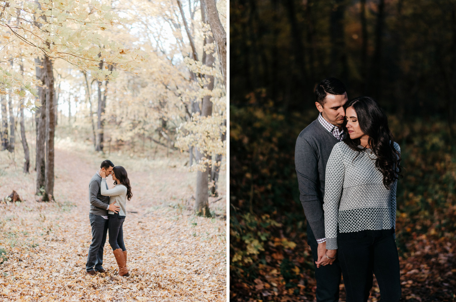 Northern Minnesota Fall engagement session by geneoh photography