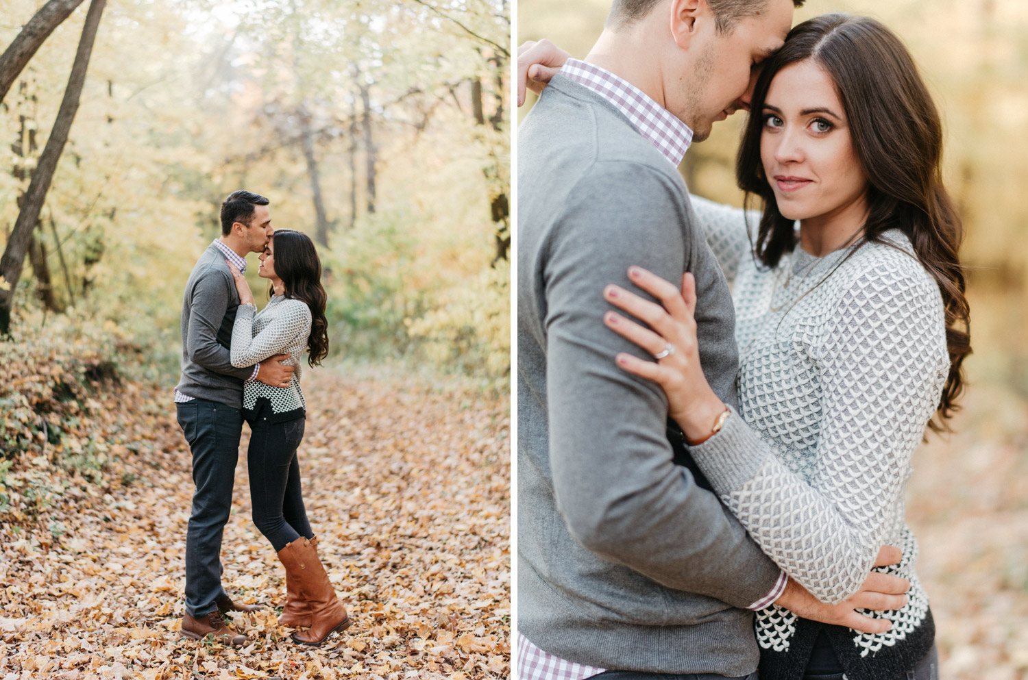 Fall engagement session by geneoh photography