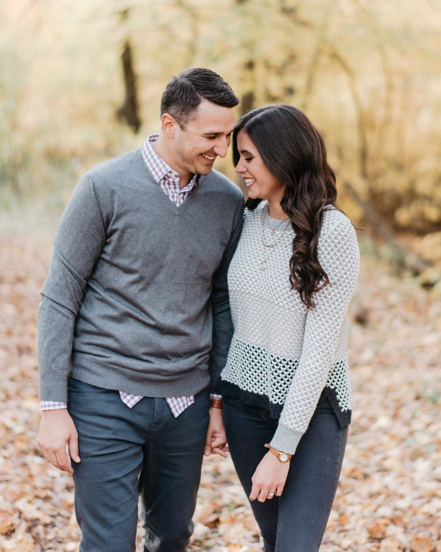 Stylish couples fall engagement session by geneoh photography