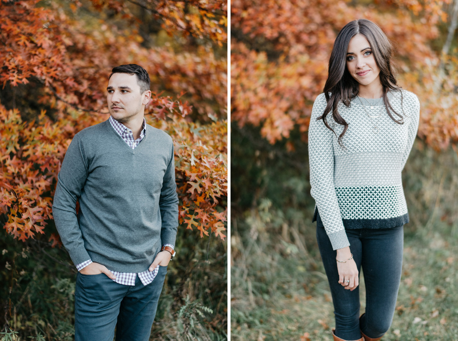 Fall engagement photography by geneoh