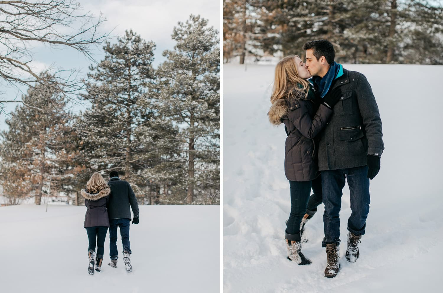 minneapolis winter engagement session