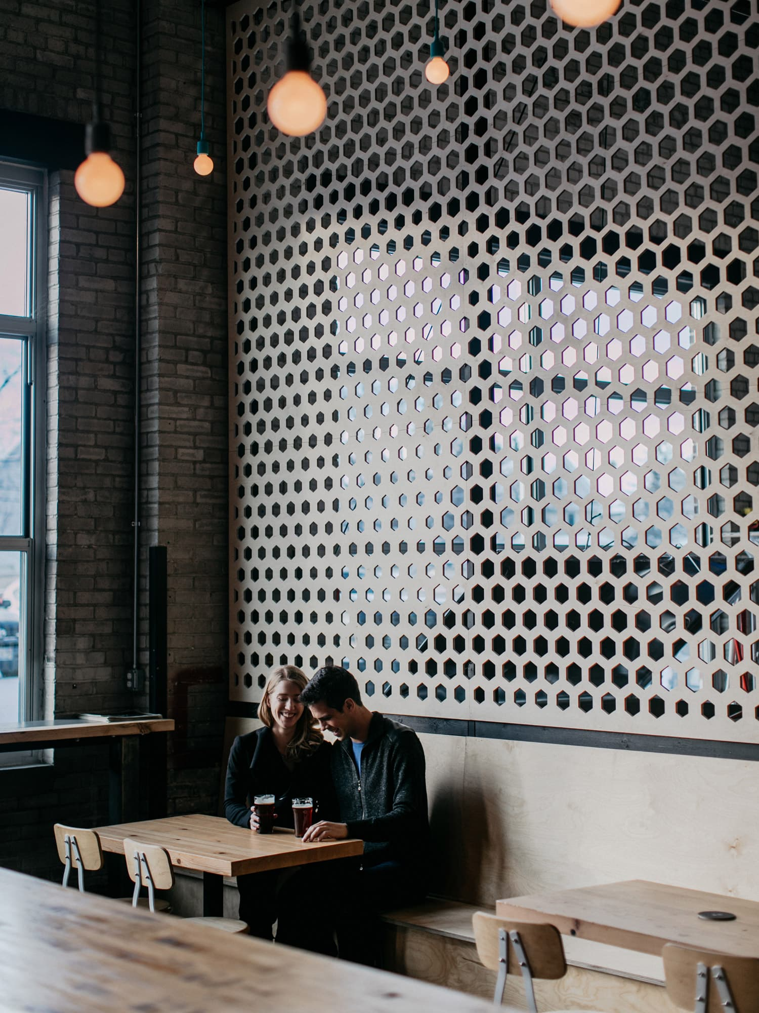 Engagement session at Able Brewery
