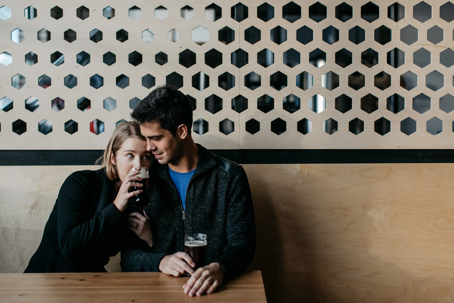 portrait of couple at Able Brewery