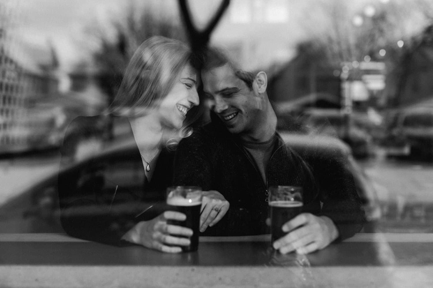 Engagement session at Able Brewery in Minneapolis